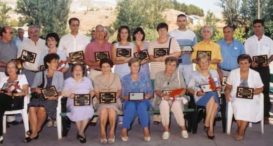 Profesores de Blesa homenajeados en 2001