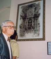Gran fotografía del retablo barroco destruido