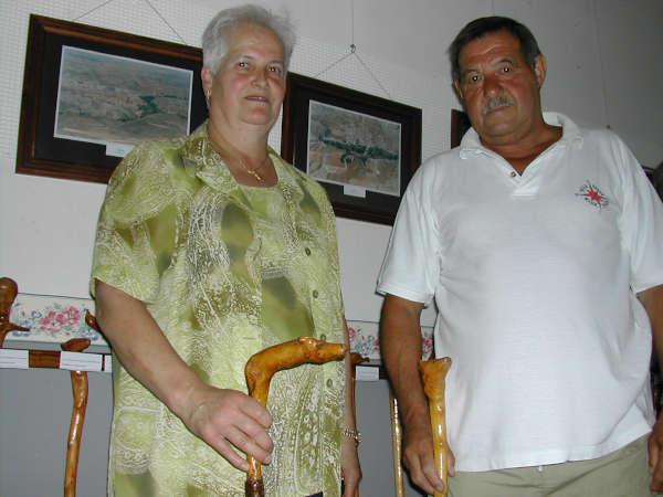 Antonio Tejedor el autor junto a Esther
