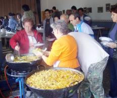 Estupendas las cocineras. Foto de Joaquín Lou
