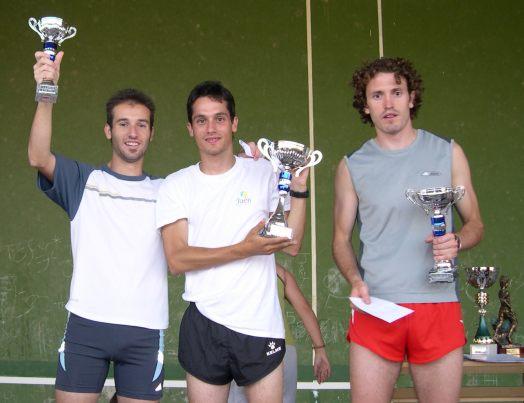 Los tres campeones aragoneses que estuvieron en Blesa este año