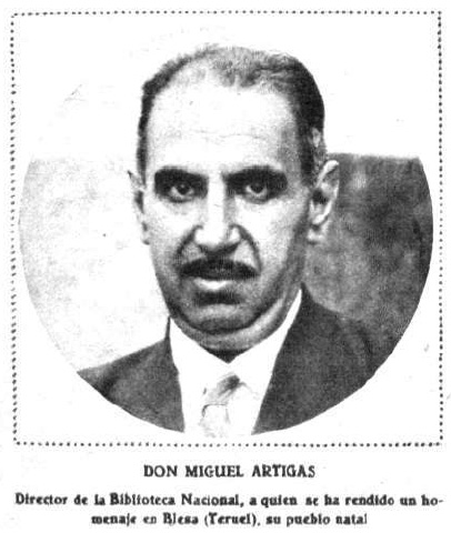 Don Miguel Artigas sobre 1931