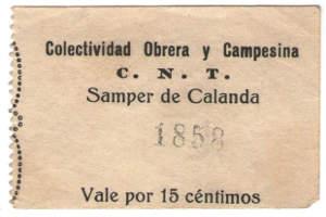 vale de Samper de Calanda durante la guerra civil española