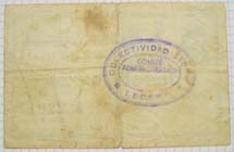 Lécera (Zaragoza) Moneda divisionaria durante la guerra civil de 1936