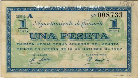 billete emitido en Tamarite (H)