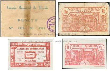 Alcañiz (Teruel) Moneda divisionaria durante la guerra civil de 1936
