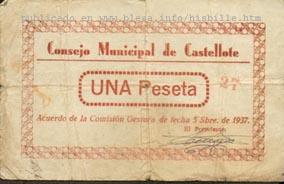 Castellote (Teruel) moneda local