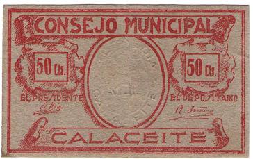 billete con sello en relieve