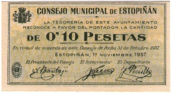 moneda local Estopiñán