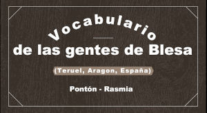 Vocabulario del habla local de Blesa