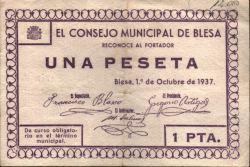 Anverso del billete de una peseta