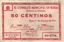 Anverso del billete de 50 céntimos