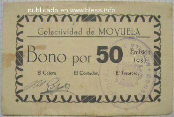 Moyuela (Zaragoza) Moneda divisionaria durante la guerra civil de 1936