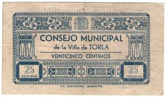 billete de Torla impreso en Barbastro (H)