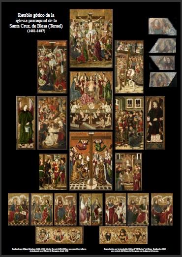 Retablo gótico de Blesa (Teruel). Cartel realizado por la asociación cultural
