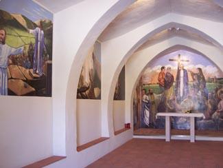 Pinturas Jesús Barranco en la ermita de Sanché de Moneva (Zaragoza)